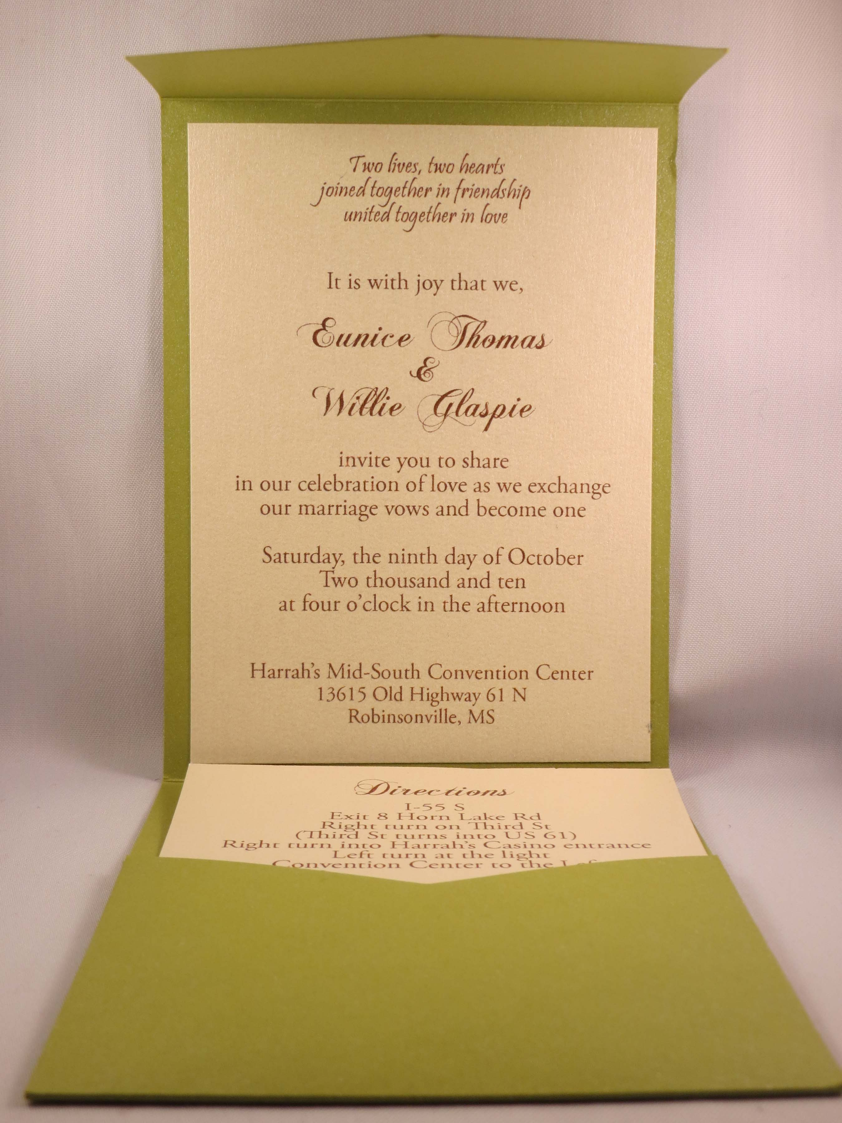 Pocket Invitations – Dixons Printing