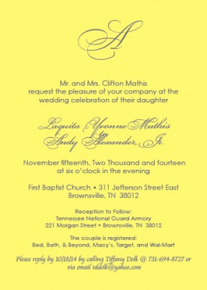 Monogram 2 Invitation