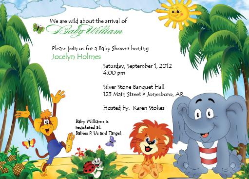 The Zoo Invitation Dixons Printing