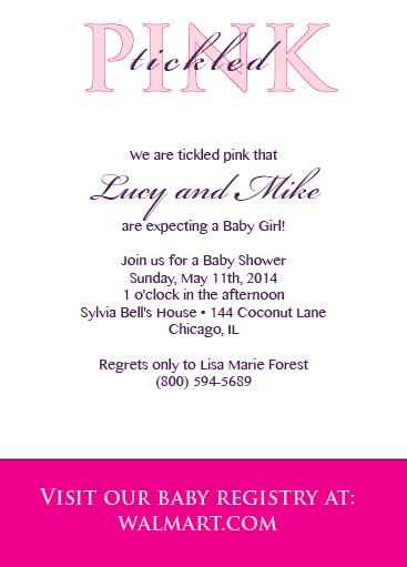 Tickled Pink Invitation Dixons Printing